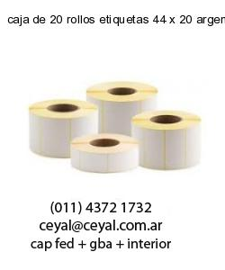 caja de 20 rollos etiquetas 44 x 20 argentina