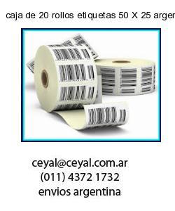 caja de 20 rollos etiquetas 50 X 25 argentina