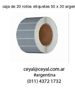 caja de 20 rollos etiquetas 50 x 30 argentina