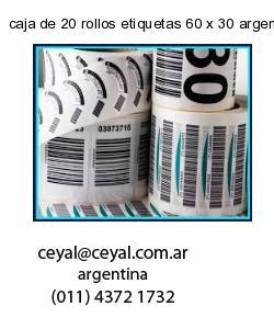 caja de 20 rollos etiquetas 60 x 30 argentina