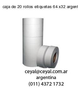 caja de 20 rollos etiquetas 64 x32 argentina