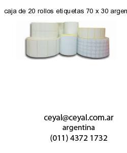 caja de 20 rollos etiquetas 70 x 30 argentina