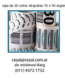 caja de 20 rollos etiquetas 70 x 50 argentina