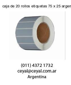 caja de 20 rollos etiquetas 75 x 25 argentina