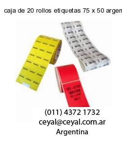 caja de 20 rollos etiquetas 75 x 50 argentina