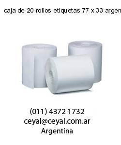 caja de 20 rollos etiquetas 77 x 33 argentina