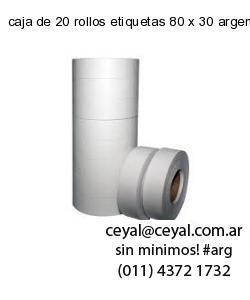 caja de 20 rollos etiquetas 80 x 30 argentina