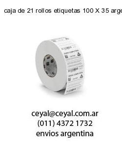 caja de 21 rollos etiquetas 100 X 35 argentina