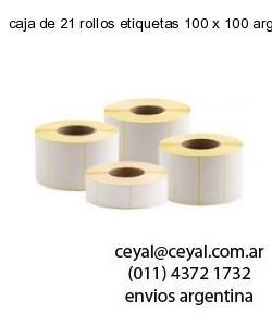 caja de 21 rollos etiquetas 100 x 100 argentina