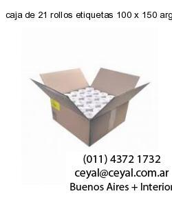 caja de 21 rollos etiquetas 100 x 150 argentina