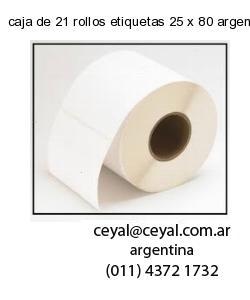 caja de 21 rollos etiquetas 25 x 80 argentina
