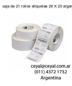 caja de 21 rollos etiquetas 29 X 20 argentina