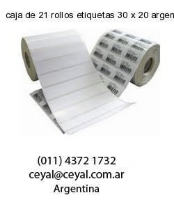 caja de 21 rollos etiquetas 30 x 20 argentina