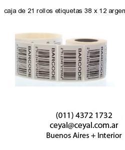caja de 21 rollos etiquetas 38 x 12 argentina
