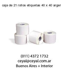 caja de 21 rollos etiquetas 40 x 40 argentina
