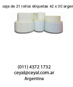 caja de 21 rollos etiquetas 42 x 30 argentina