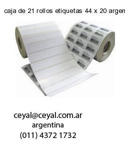 caja de 21 rollos etiquetas 44 x 20 argentina