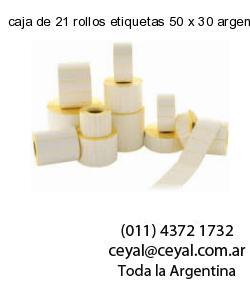 caja de 21 rollos etiquetas 50 x 30 argentina