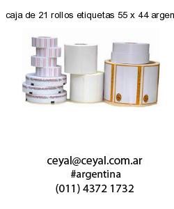 caja de 21 rollos etiquetas 55 x 44 argentina