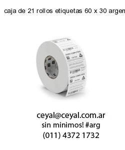 caja de 21 rollos etiquetas 60 x 30 argentina