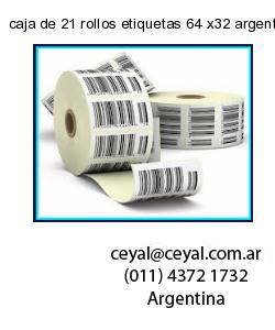 caja de 21 rollos etiquetas 64 x32 argentina
