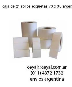 caja de 21 rollos etiquetas 70 x 30 argentina
