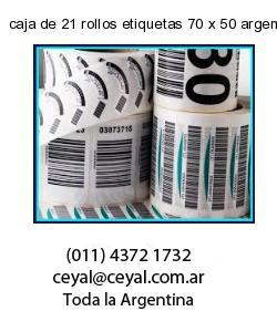 caja de 21 rollos etiquetas 70 x 50 argentina