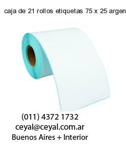 caja de 21 rollos etiquetas 75 x 25 argentina