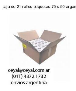 caja de 21 rollos etiquetas 75 x 50 argentina