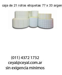 caja de 21 rollos etiquetas 77 x 33 argentina