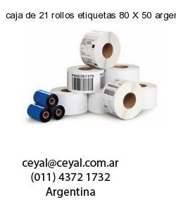 caja de 21 rollos etiquetas 80 X 50 argentina