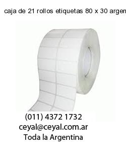caja de 21 rollos etiquetas 80 x 30 argentina