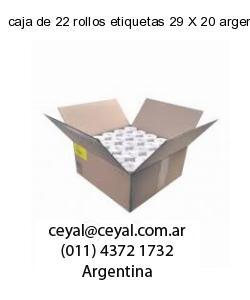 caja de 22 rollos etiquetas 29 X 20 argentina