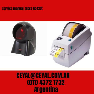 service manual zebra Gc420t