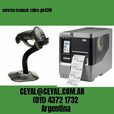 service manual zebra gk420t