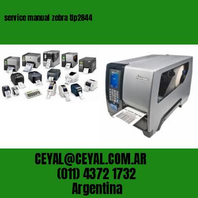 service manual zebra tlp2844
