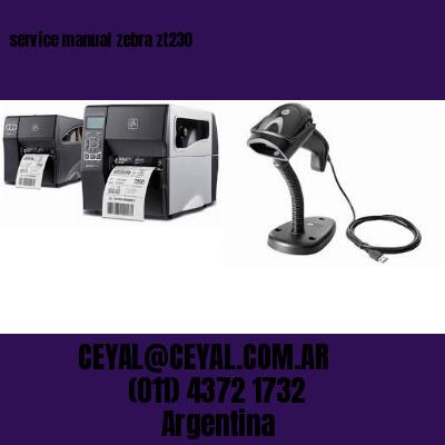 service manual zebra zt230