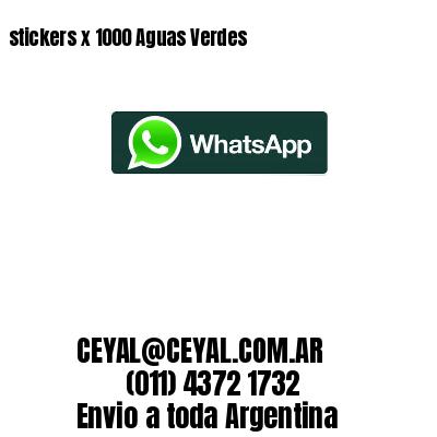 stickers x 1000 Aguas Verdes