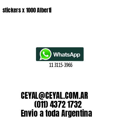 stickers x 1000 Alberti