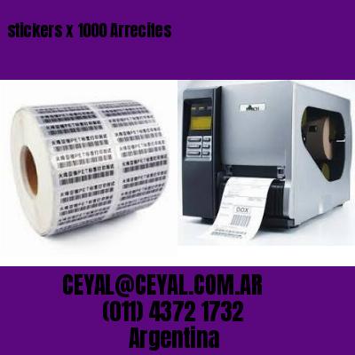 stickers x 1000 Arrecifes
