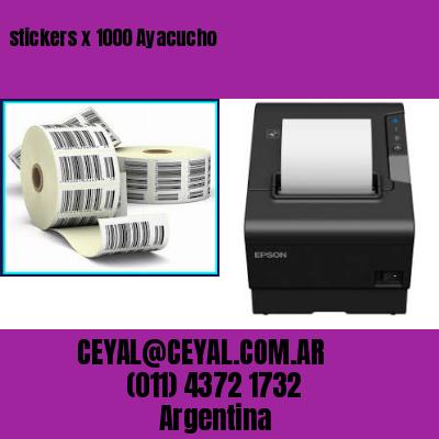 stickers x 1000 Ayacucho