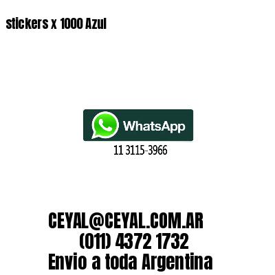 stickers x 1000 Azul