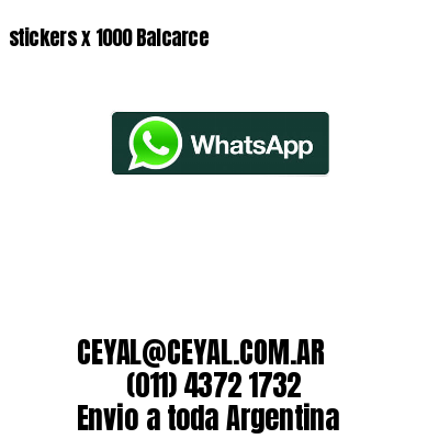 stickers x 1000 Balcarce