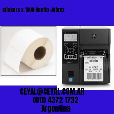 stickers x 1000 Benito Juárez