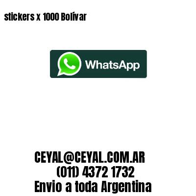 stickers x 1000 Bolívar