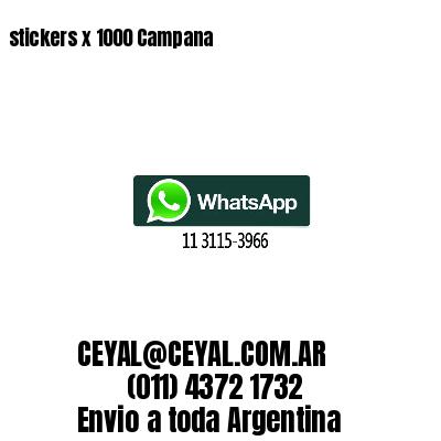 stickers x 1000 Campana
