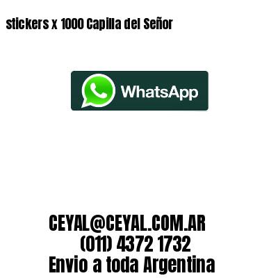 stickers x 1000 Capilla del Señor