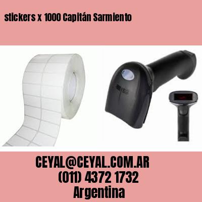 stickers x 1000 Capitán Sarmiento