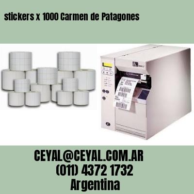 stickers x 1000 Carmen de Patagones