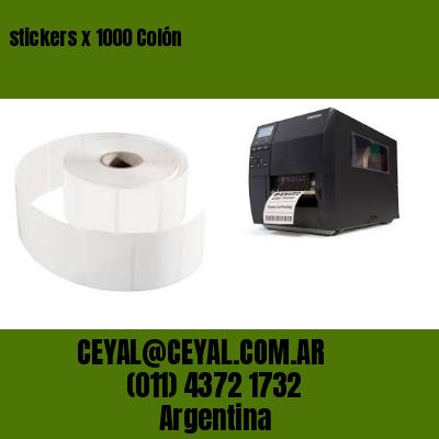 stickers x 1000 Colón